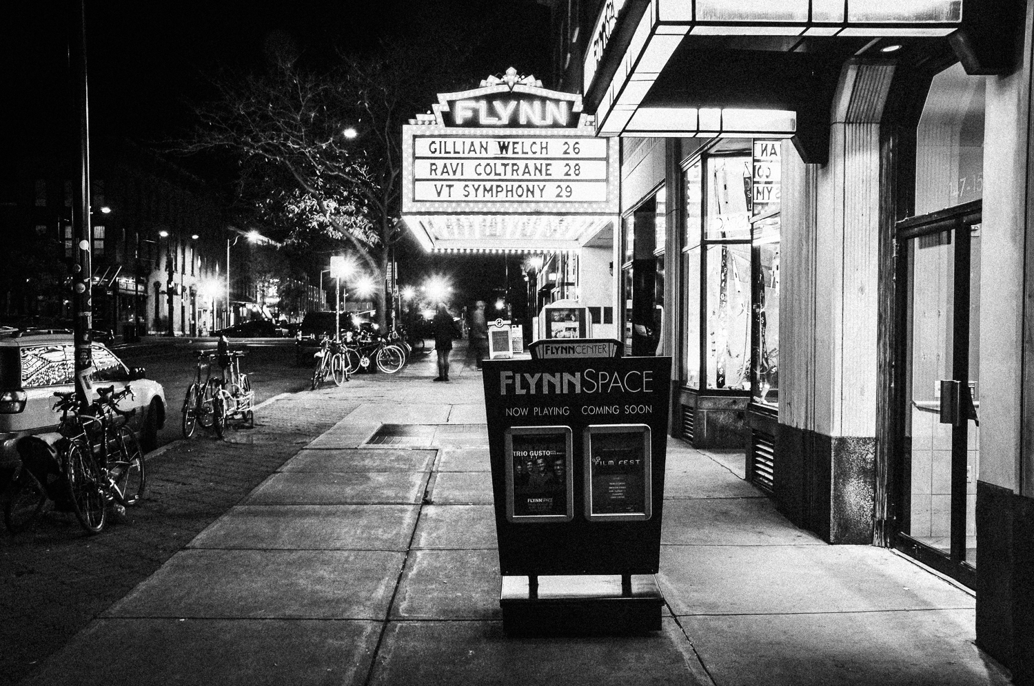Flynn theater black and white