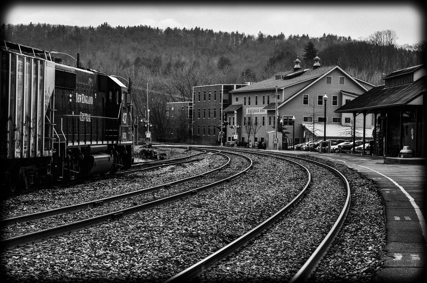 Black and White Railyard