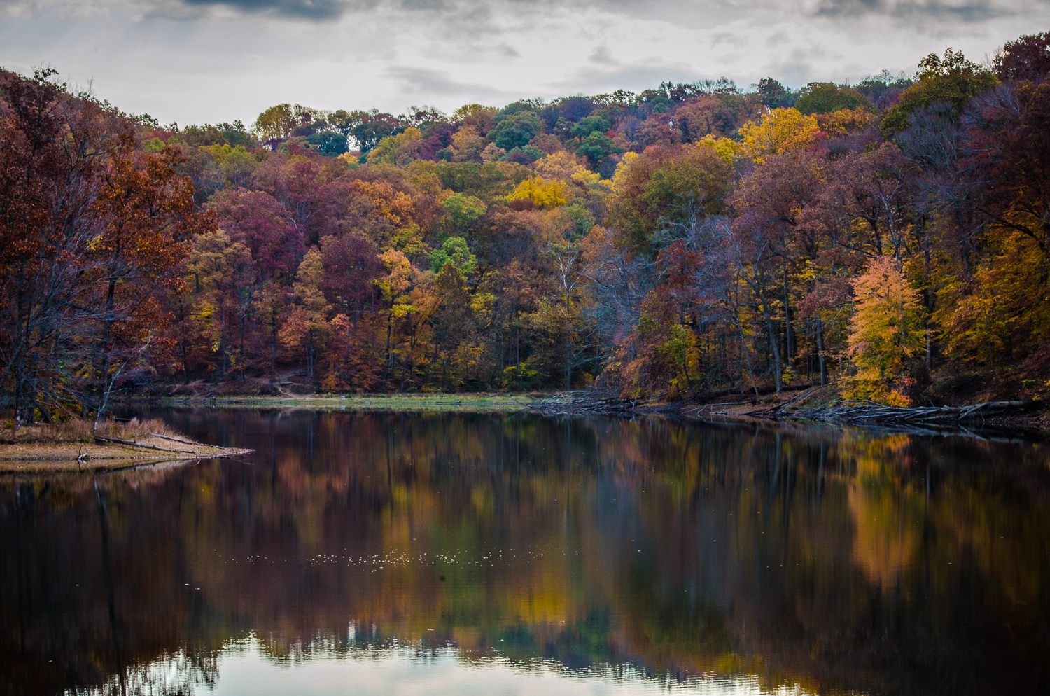Indiana Lake in Fall